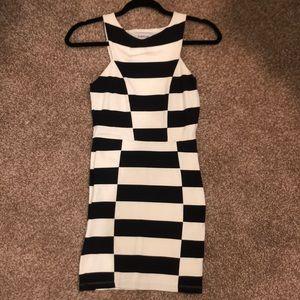 BEBE black and white mini dress